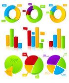 Charts Illustration — Stock Vector