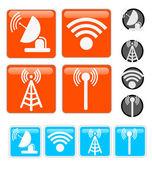 Signal Vector Icons — Stock Vector