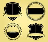 Shields Illustrations — Stock Vector