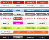 Classical Web Navigation Bar Set — Stock Vector