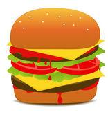 Tasty Hamburger Illustration — Stock Vector