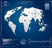 Hi-Tech Screen Illustration — Stock Vector