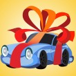 Royalty-Free Stock Vector Image: Car as a gift