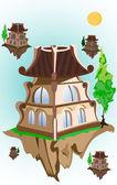 Beautiful house — Stock Vector