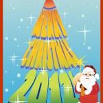 Christmas Card 2012 — Stock Vector