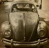 Old car card — Stock Photo
