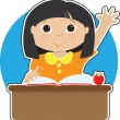 Little Girl at School Asian — Stock Photo #7020358