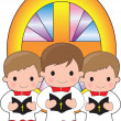 Stock Vector: Altar Boys