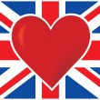 Heart British Flag — Stock Vector