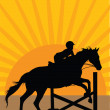 Horse Jumping Silhouette 2 — Stock Vector