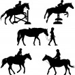 Horse Silhouettes — Stock Vector #7126331