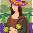 Mona Lisa Sombrero — Stock Vector