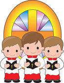 Altar Boys — Stock Vector