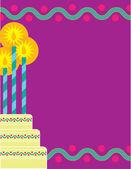 Födelsedag gränsen — Stockvektor