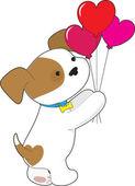 Милый щенок шары — Cтоковый вектор