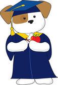 Cute Puppy Graduation — Stock Vector