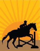 Silhueta de salto de cavalo 2 — Vetor de Stock