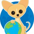 Chihuahua Earth Day — Stok Vektör