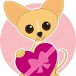 Royalty-Free Stock Vector Image: Chihuahua Heart