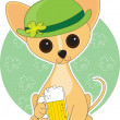 Chihuahua St. Pat's — Stock Vector #7136448