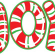 Joy Candy Cane — Stockvectorbeeld