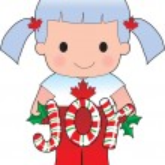 Poppy Canadian Christmas — Stock Vector #7136527