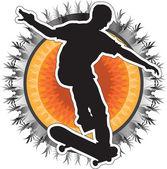 Skateboarder Design — Stock Vector