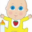 Stock Vector: Baby Big Eyes