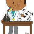 Royalty-Free Stock Vector Image: Black Vet and Pets