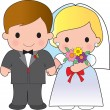 Bride and Groom — Imagen vectorial