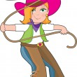 Cowgirl — Stock Vector #7176355
