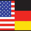 America Germany Flag - Stock Vector
