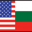 America  Bulgaria Flag - Stock Vector