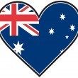 Australia Heart Flag - Stock Vector