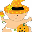 Stock Vector: Baby Halloween