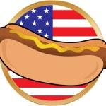 Hot Dog American Flag — Stock Vector #7177308