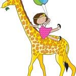 Natalie's Giraffe — Stock Vector
