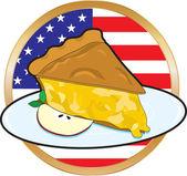Apple Pie American Flag — Stock Vector