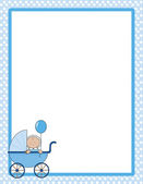 Baby Border Boy — Stock Vector