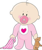 Baby Soother Girl — Stock Vector