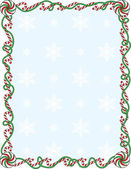 Candy Cane Border — Stock Vector