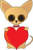 Chihuahua sevgililer — Stok Vektör