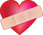 Heart band Aid — Stock Vector
