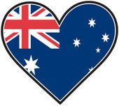 Australia Heart Flag — Stock Vector