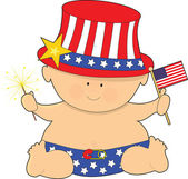 Baby Fourth of July — Stock Vector