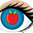Apple of my Eye — Stock Vector