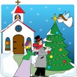 Church Carolers — Stock Vector