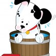 Stock Vector: doggie bath