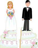 Divorce Cake — Stock Vector
