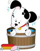 Doggie Bath — Stock Vector